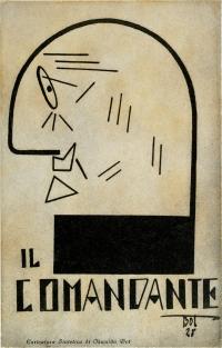 Osvaldo Bot - Il Comandante (caricatura di D'Annunzio) - 1928