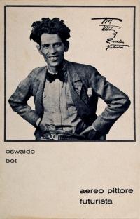 Osvaldo Bot - Aereo pittore futurista - 1930