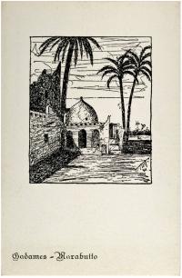 Osvaldo Bot - Impressioni dal vero sulla Libia (una cartolina) - 1935