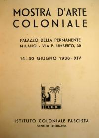 Osvaldo Bot - Mostra d'Arte Coloniale, Palazzo della Permanente Milano - 1936