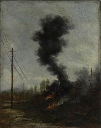 Osvaldo Bot - Cespugli che bruciano  - 1934