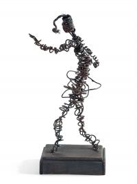 Osvaldo Bot - Selvaggia che danza (ferroplastica) - 1931
