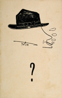 Osvaldo Bot - Fumatore e interrogativo - 1927