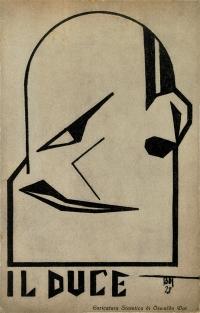 Osvaldo Bot - Il Duce (caricatura di Mussolini) - 1928