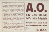 Osvaldo Bot - A.O. 16 cartoline dell'Affrica Orientale (custodia) - 1935