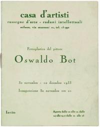 Osvaldo Bot - Ferroplastica del pittore Oswaldo Bot, casa d'artisti Milano - 1933