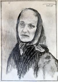 Osvaldo Bot - Ritratto della nonna - 1925