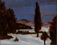 Osvaldo Bot - Paesaggio con neve - 1928