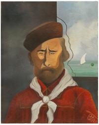 Osvaldo Bot - Ritratto futurista di Garibaldi - 1932