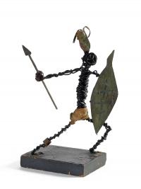 Osvaldo Bot - Guerriero con lancia e scudo (ferroplastica) - 1933