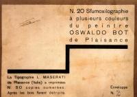 Osvaldo Bot - N.20 Sfumoxilographie à plusieurs couleurs - 1933